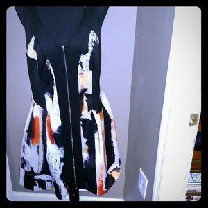 Zip front racer back dress